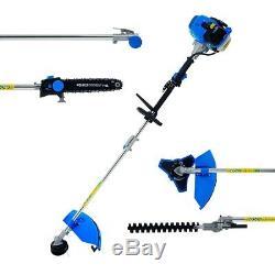Sgs 52cc 5in1 Multi Tool Set De Jardin Chainsaw Tondeuse Tondeuse À Gazon Débroussailleuse