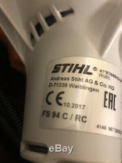 Stihl Fs 94 C Débroussailleuse / Débroussailleuse Avec Poignées Corne De Vache