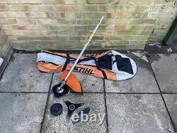 Stihl Fs-km Combi Strimmer / Brushcutter Attachment With Bag, Bobine, Lames 3x