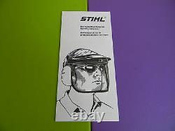 Stihl Trimmer Brush Shield Protecteur Visage Shield Protection De L'oreille Oem Stihl Article