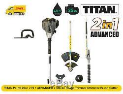 Titan Essence 25cc 2 In 1 2 Temps Taille-haie Tondeuse À Fil Débroussailleuse