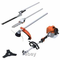 Vidaxl 4-in-1 Multi-tool Hedge&grass Trimmer Chain Saw Brush Cutter Garden